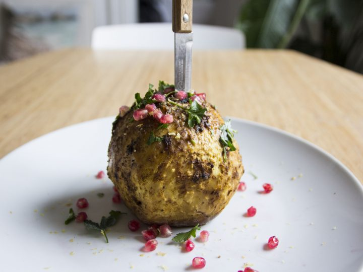 Eats | Spiced Celeriac with Pomegranate and Parsley