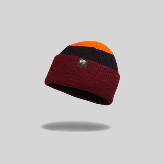 "Red ""Red Rocks"" Merino CRW Run Beanie"